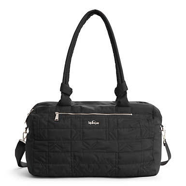 Val XL Quilted Duffle - Black Plaid Combo