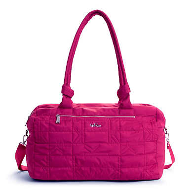 Val XL Quilted Duffle - Spring Red
