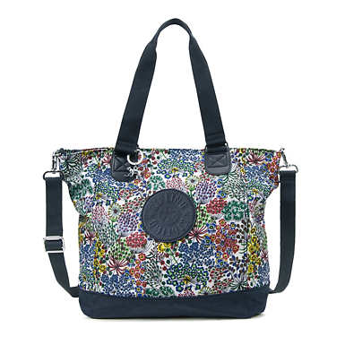 Shopper Combo Print Tote - Little Flower Combo