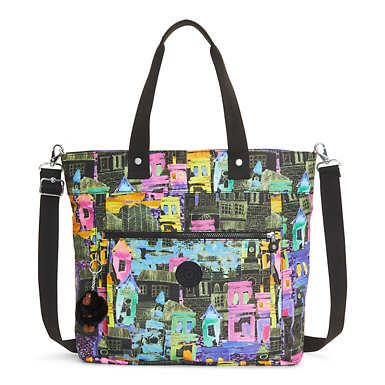 Lizzie Printed Tote Bag - undefined