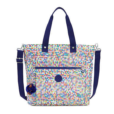Lizzie Printed Tote Bag - Tile Dream