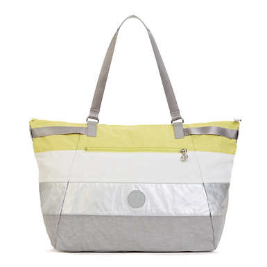 Walter Colorblock Tote Bag - Garden Green Patchwork
