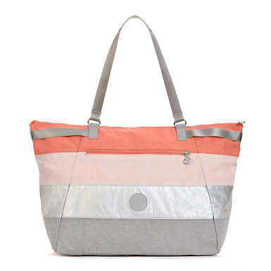 Walter Colorblock Tote Bag - Cool Orange Patchwork