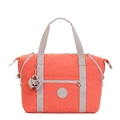 Art M Colorblock Tote Bag - Cool Orange/Slate Grey Combo