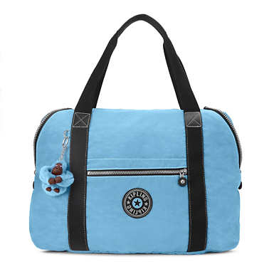 Art M Vintage Tote Bag - Blue Grey Combo