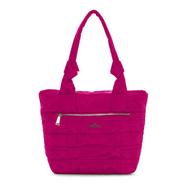 Lipe Quilted Tote Bag - Spring Red