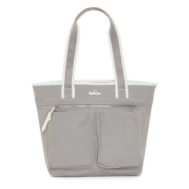 Neha Canvas Tote Bag - Slate Grey