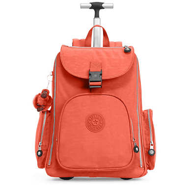Alcatraz II Wheeled Laptop Backpack - Cool Orange