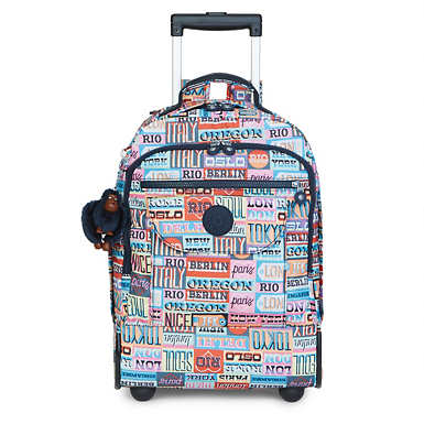 Sanaa Printed Rolling Backpack - undefined