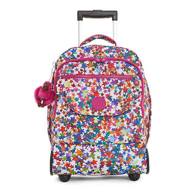 Sanaa Printed Wheeled Backpack - Kalidescope Block