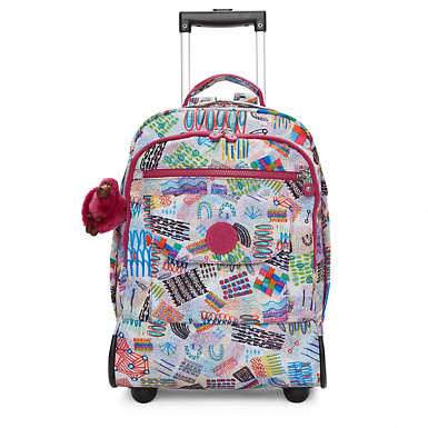 Sanaa Printed Rolling Backpack - Rio Vine