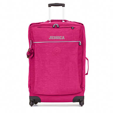 Darcey Large Rolling Luggage - Very Berry