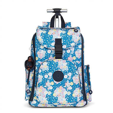 Alcatraz II Printed Wheeled Laptop Backpack - Make Happy