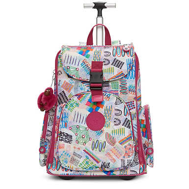 Alcatraz II Printed Rolling Laptop Backpack - Rio Vine