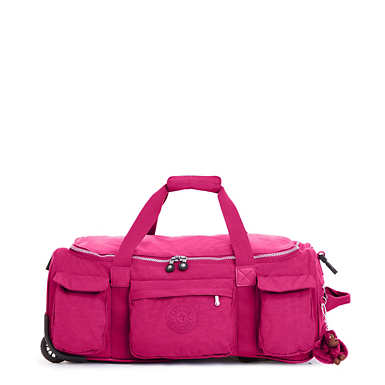 Discover Small Wheeled Luggage Duffle - Very Berry