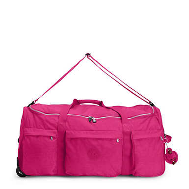 Discover Large Wheeled Luggage Duffle - Very Berry