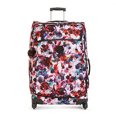 Darcey Large Printed Wheeled Luggage - undefined