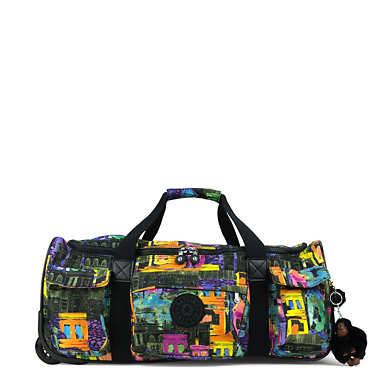 Discover Small Printed Wheeled Duffle Bag - Coronado Streets