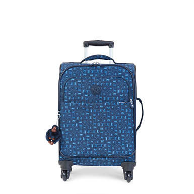Parker Small Printed Wheeled Carry-On Luggage - Monkey Mania Blue