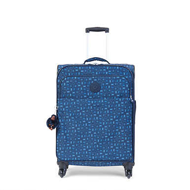 Parker Medium Printed Wheeled Luggage - Monkey Mania Blue