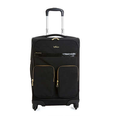 Ronan Carry-On Rolling Luggage - Black Patent Combo