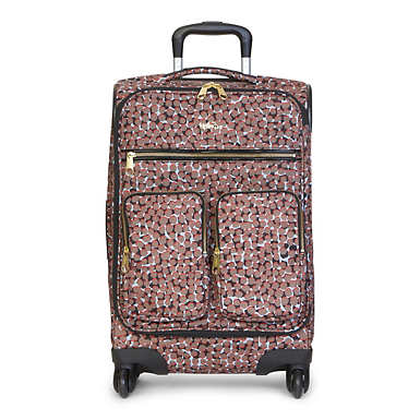Ronan Printed Carry-On Wheeled Luggage - Graphic Animal Brown