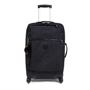 Darcey Small Printed Carry-On Rolling Luggage - Black Croc