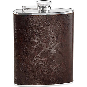 Crosshairs Leather Flask Set