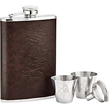 Crosshairs Leather Flask Set at Legendary Whitetails