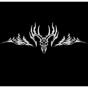 Intimidator Deer Truck Window Decal