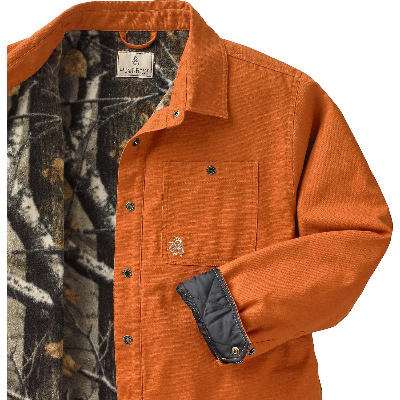 Legendary Whitetails Men 39 S Creek Bed Canvas Shirt Jacket