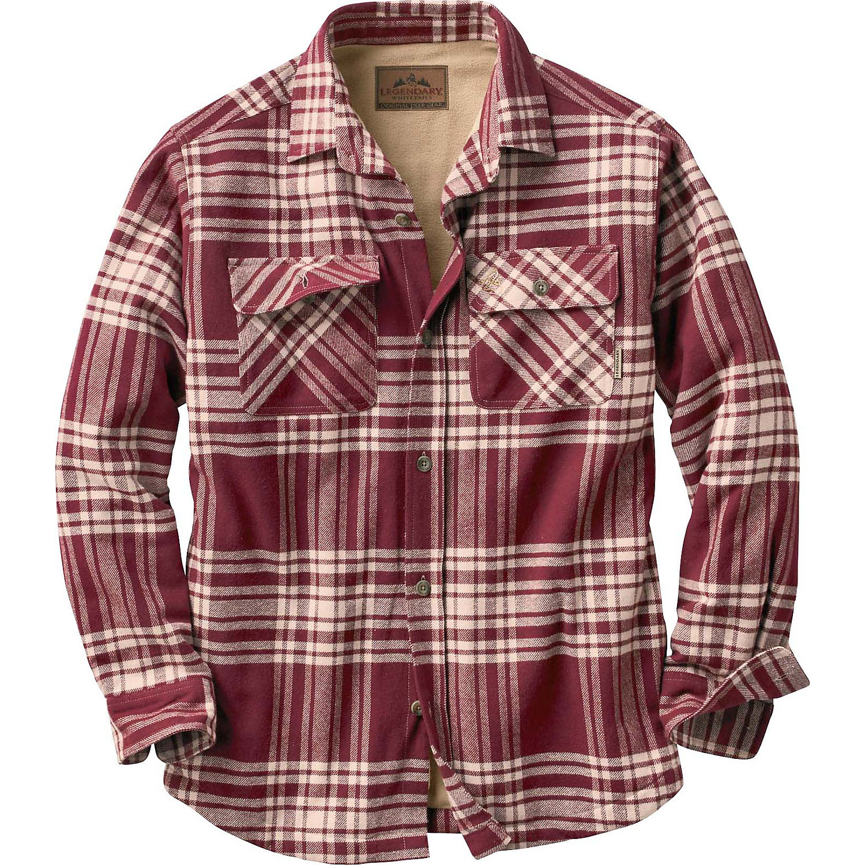 Legendary Whitetails Men 39 S Deer Camp Fleece Lined Shirt