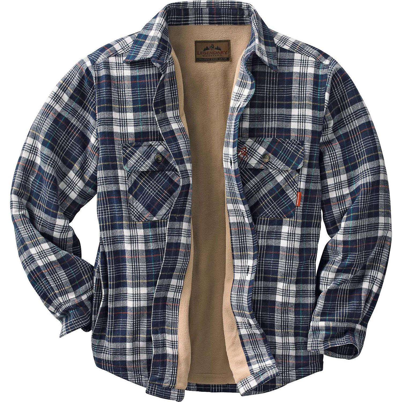 Legendary whitetails men 39 s deer camp fleece lined shirt for Fleece lined flannel shirt