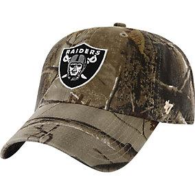 Oakland Raiders Realtree Camo Clean Up Cap