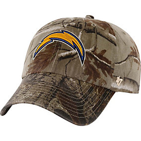 San Diego Chargers Realtree Camo Clean Up Cap