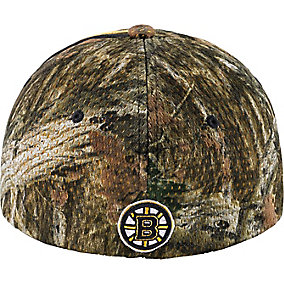 Boston Bruins Mossy Oak Camo NHL Slash Cap