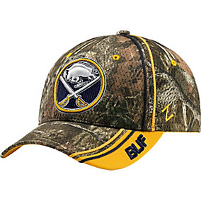 Buffalo Sabres Mossy Oak Camo NHL Slash Cap