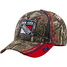 New York Rangers Mossy Oak Camo NHL Slash Cap