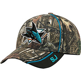 San Jose Sharks Mossy Oak Camo NHL Slash Cap