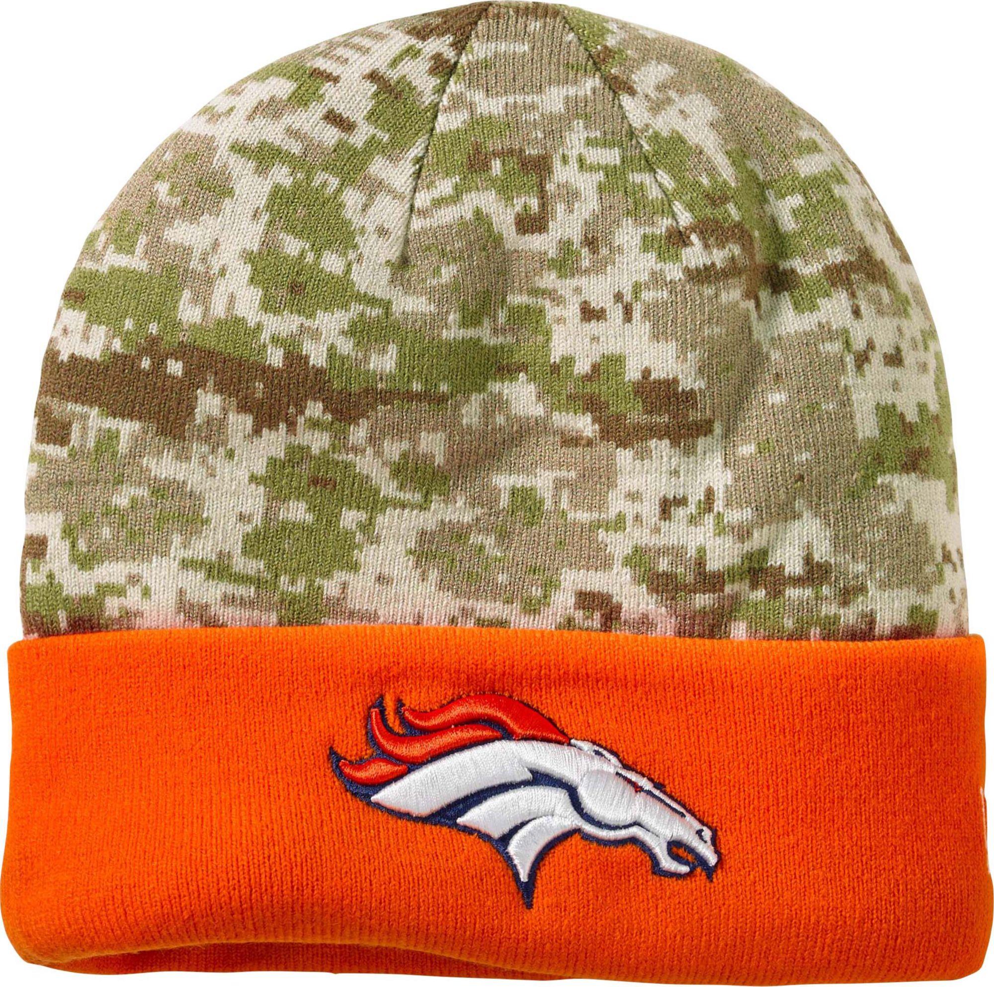Knitting Pattern For Nfl Hats : Denver Broncos NFL Camo Knit Hat Legendary Whitetails