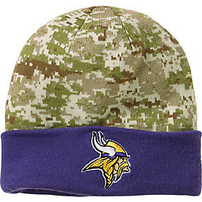 Minnesota Vikings NFL Camo Knit Hat