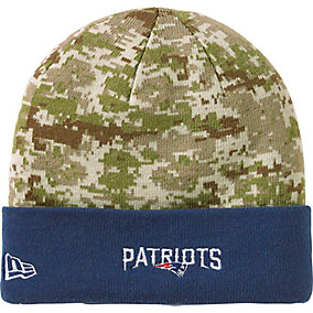 New England Patriots NFL Camo Knit Hat