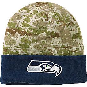Seattle Seahawks NFL Camo Knit Hat
