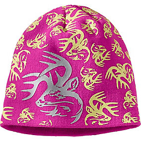 Girls Glow In The Dark Buck Beanie