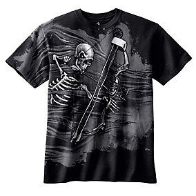 Boys Black Mr. Bones Short Sleeve T-Shirt