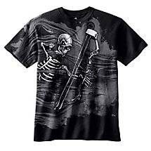 Boys Black Mr. Bones Short Sleeve T-Shirt at Legendary Whitetails