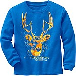Toddler Boys Splatter Buck Long Sleeve T-Shirt