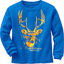 Toddler Boys Splatter Buck Long Sleeve T-Shirt at Legendary Whitetails