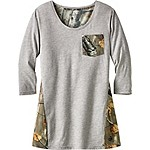 Ladies Escape the Day Big Game Camo Tunic