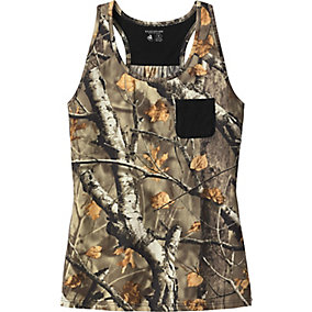 Ladies Oak Tree Reveal Big Game Camo Pocket Tank